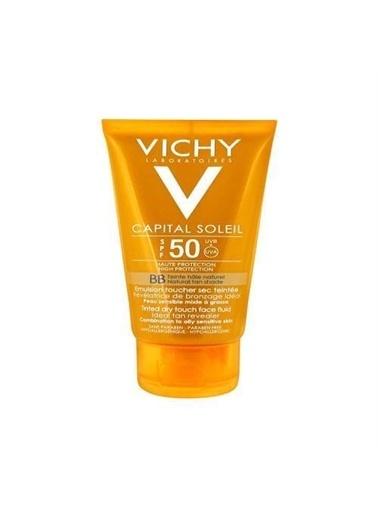 Vichy Vichy İdeal Soleil Spf50 Karma / Yagli Ciltler Renkli Güneş Kremi 50 Ml Renksiz